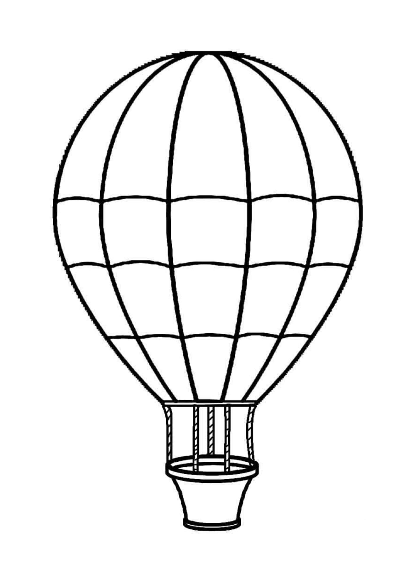 how to draw a air balloon hot air balloon illustration drawing engraving ink line to draw air a balloon how