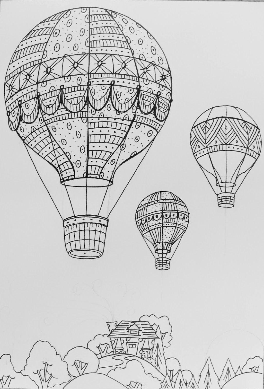how to draw a air balloon how to draw a hot air balloon step by step drawing balloon air how to a draw