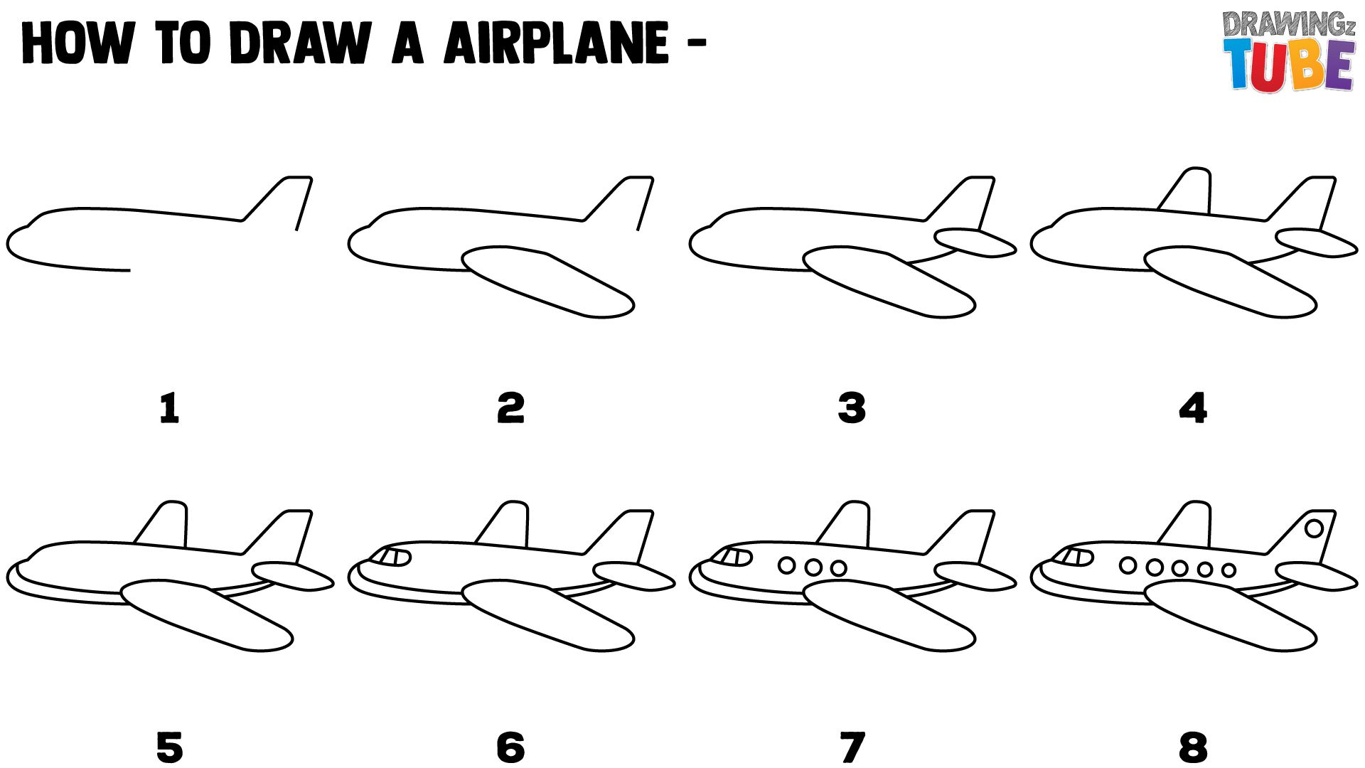 how to draw a airplane step by step drawing a cartoon airplane to step by draw how a step airplane
