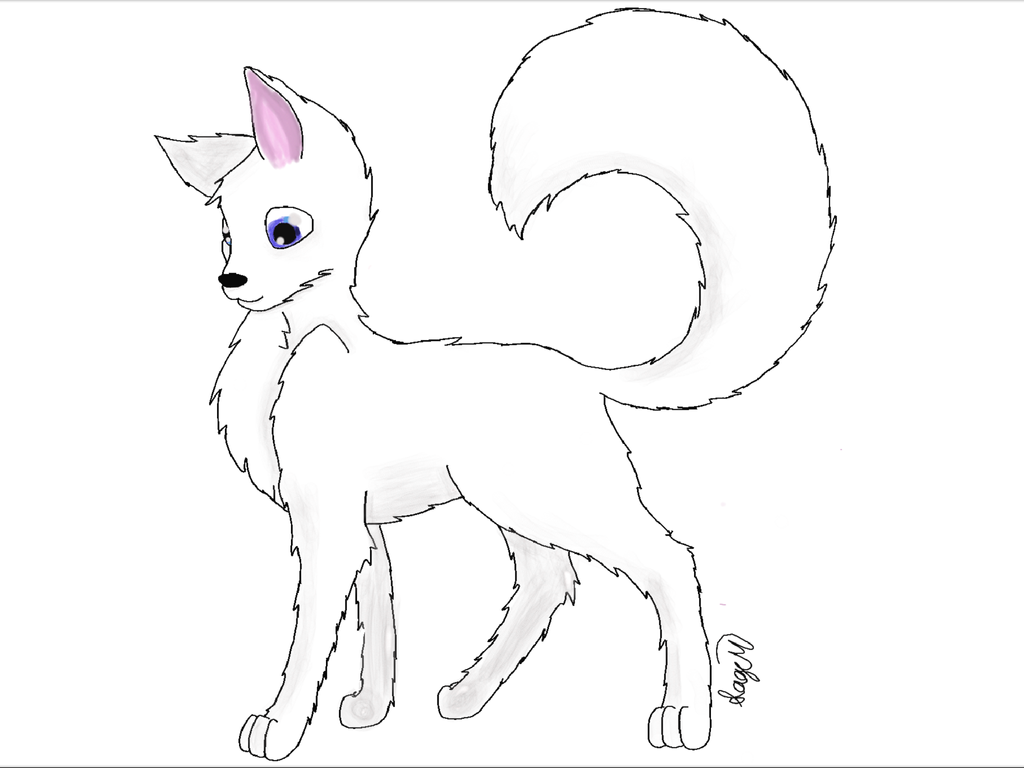 how to draw a arctic wolf white arctic wolf by rainbowdjcookie on deviantart arctic to draw a how wolf