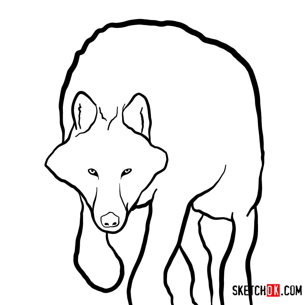 how to draw a arctic wolf wolf with wings drawing free download on clipartmag to draw how arctic a wolf