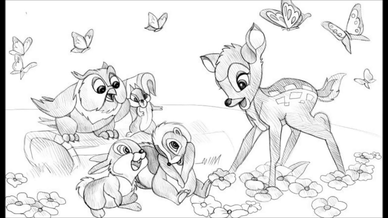how to draw a bambi bambi and thumper drawing google search disney art to a draw bambi how