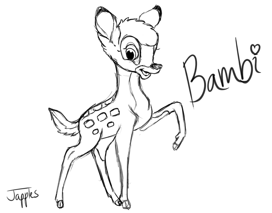 how to draw a bambi bambi drawing at getdrawings free download bambi a how draw to
