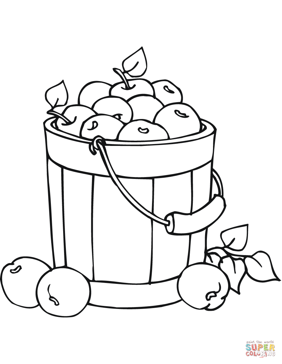 how to draw a basket of apples apples in a bucket coloring page free printable coloring how draw a to of basket apples