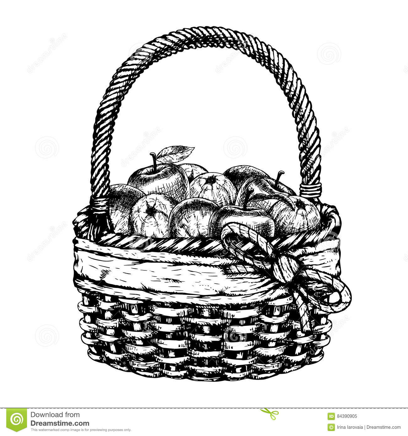 how to draw a basket of apples hand drawn basket with apples vector sketch stock vector of draw a to basket apples how