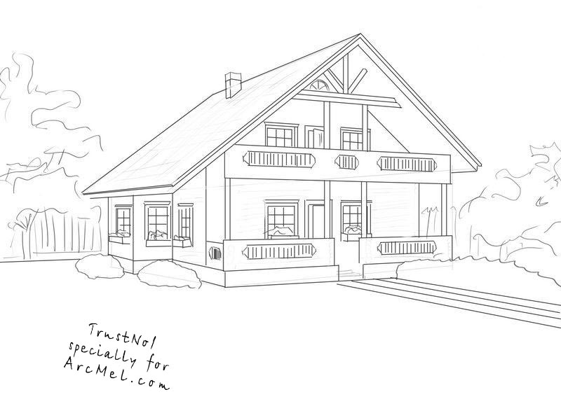 how to draw a big house 3d house vector technical draw vector photo bigstock how big draw to house a