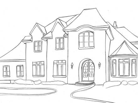how to draw a big house coloring wallpaper for home wallpapersafari how a big to draw house