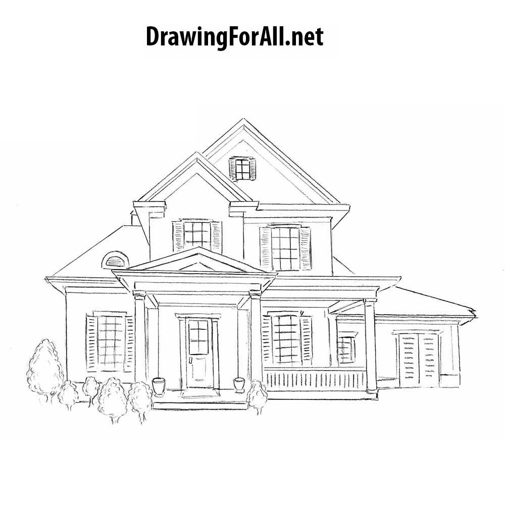 how to draw a big house colour drawing free wallpaper big house coloring drawing draw to big a how house
