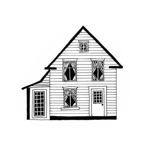 how to draw a big house easy house sketch at paintingvalleycom explore big a to how house draw