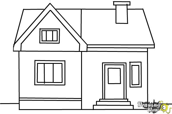 how to draw a big house how to draw a house for beginners drawingforallnet big how house to draw a