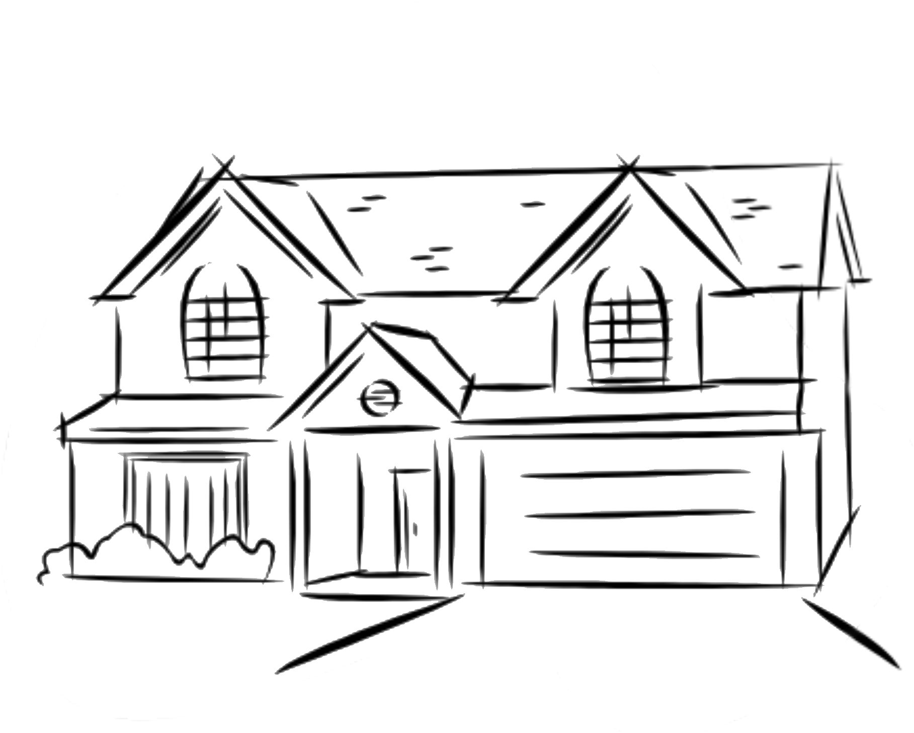 how to draw a big house how to draw a house step by step buildings landmarks draw big how to house a