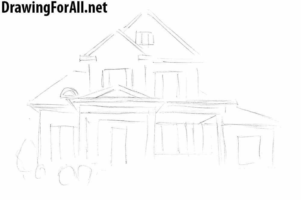 how to draw a big house mansion drawing at paintingvalleycom explore collection a how house to big draw