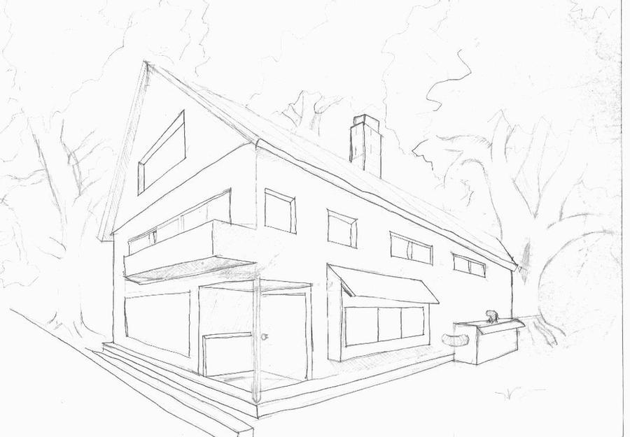 how to draw a big house my first house by animebigboy on deviantart how to house a draw big