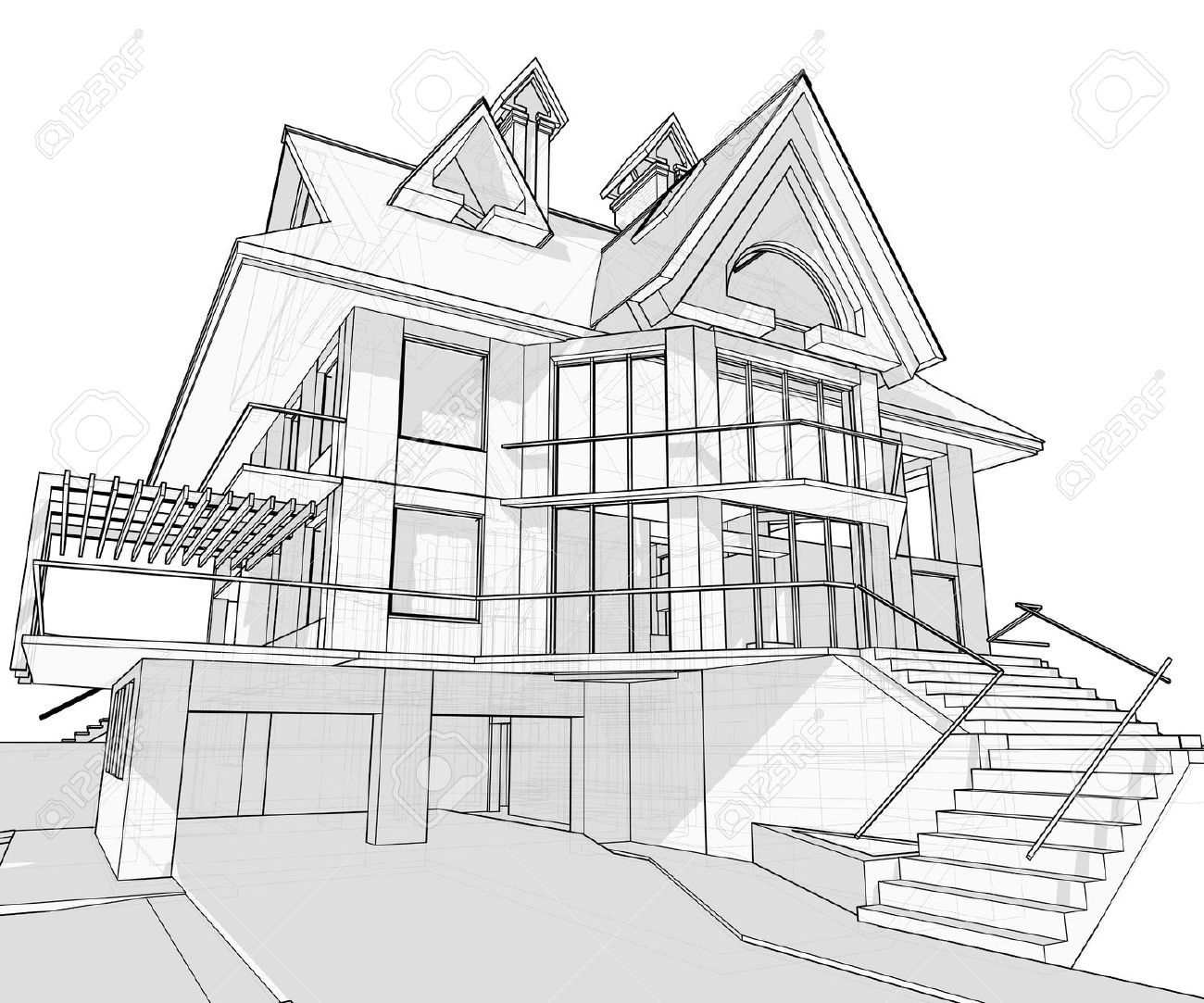 how to draw a big house ruled outline of house clipart etc a draw to big how house
