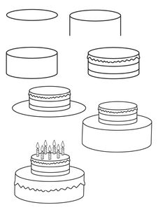 how to draw a birthday cake birthday cake drawing images at getdrawings free download draw cake birthday to a how