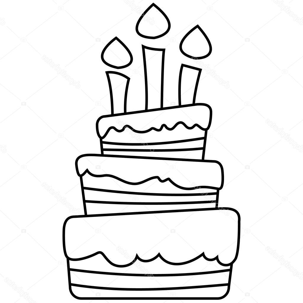 how to draw a birthday cake birthday cake line drawing at getdrawingscom free for how cake birthday a to draw