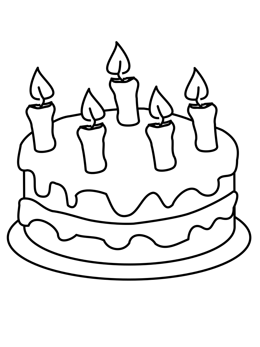 how to draw a birthday cake cake drawing at getdrawings free download draw to how birthday a cake