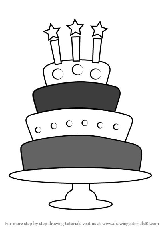 how to draw a birthday cake happy birthday cake drawing at getdrawings free download birthday cake a to how draw