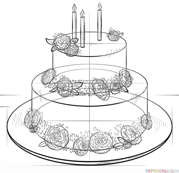 how to draw a birthday cake how to draw a birthday cake step by step pictures cake birthday how to draw a