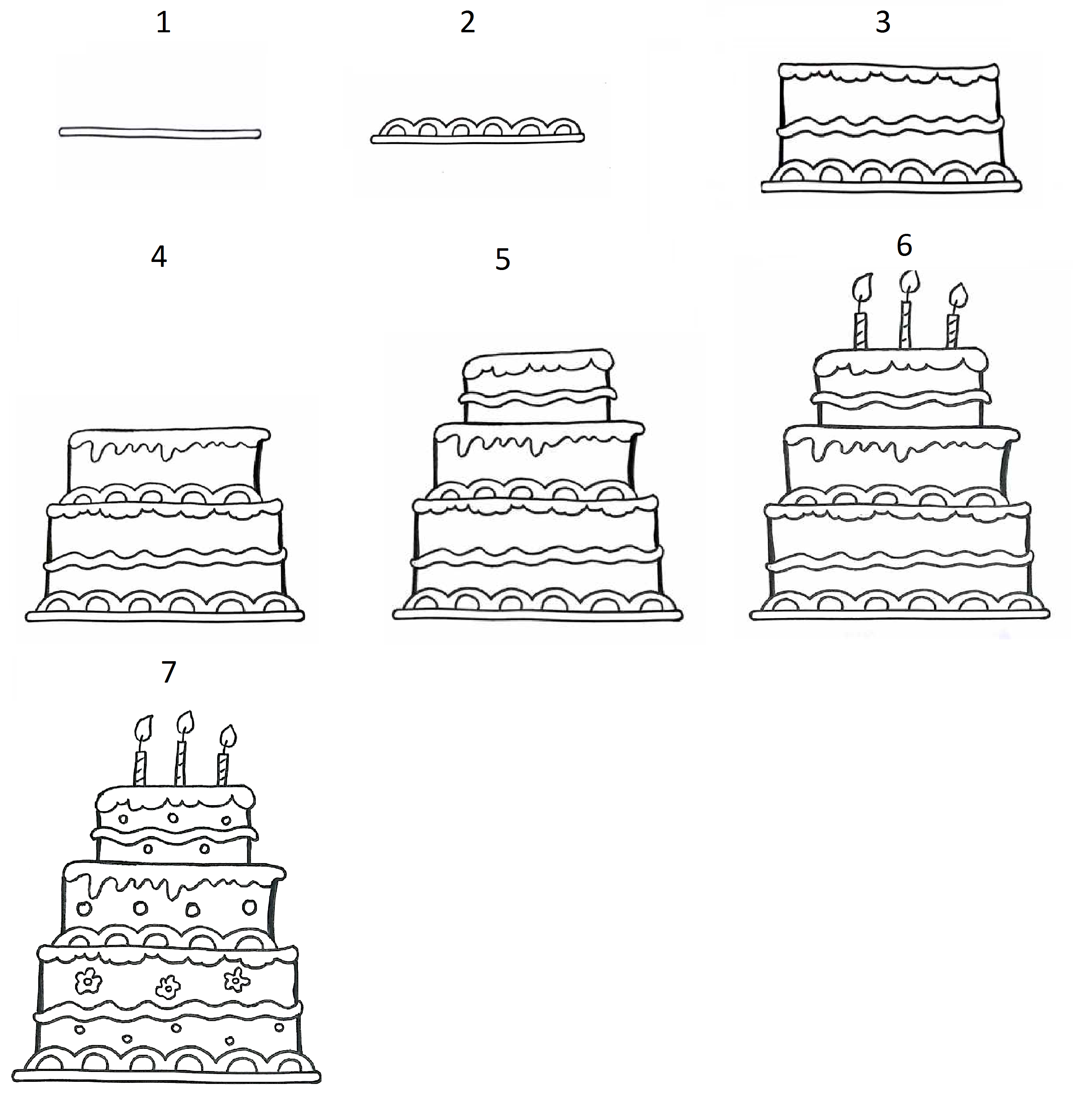 how to draw a birthday cake sketch of cake at paintingvalleycom explore collection cake draw a how birthday to