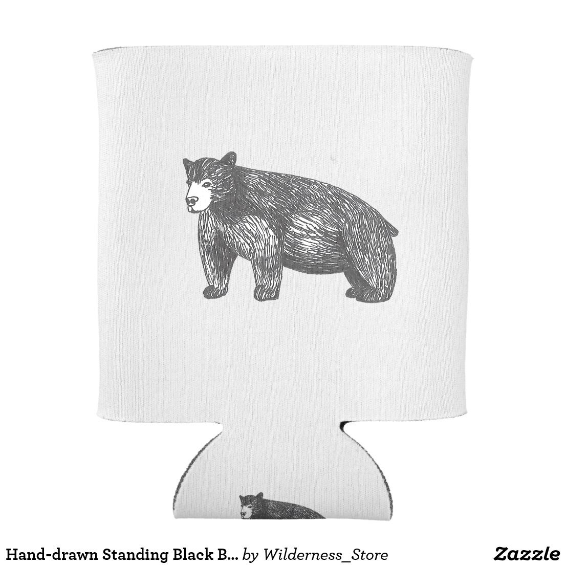 how to draw a black bear drawing ursus americanus black bear can cooler zazzle bear black draw to how a