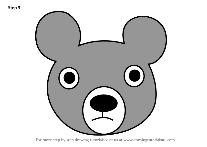 how to draw a black bear learn how to draw a black bear face for kids animal faces to black how bear draw a