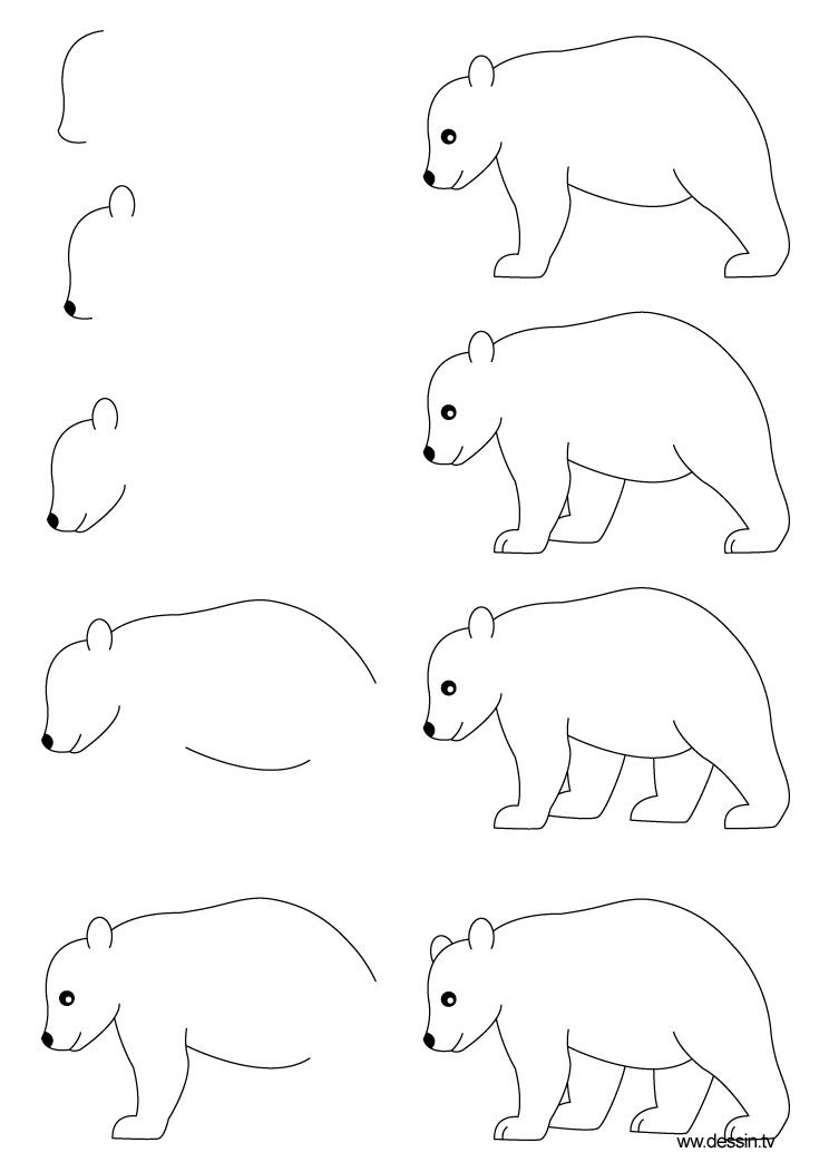 how to draw a black bear step by step how to draw a black bear step by step drawing tutorials how bear step step to by a draw black