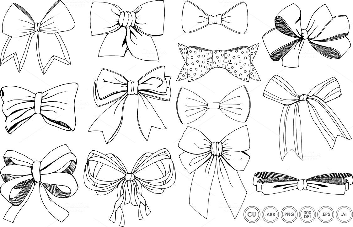 how to draw a bow bows ribbons line art silhouette by fishscraps on how bow a to draw