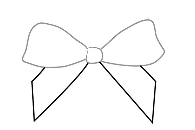 how to draw a bow how to draw a bow in pencil simple and three options bow to how draw a