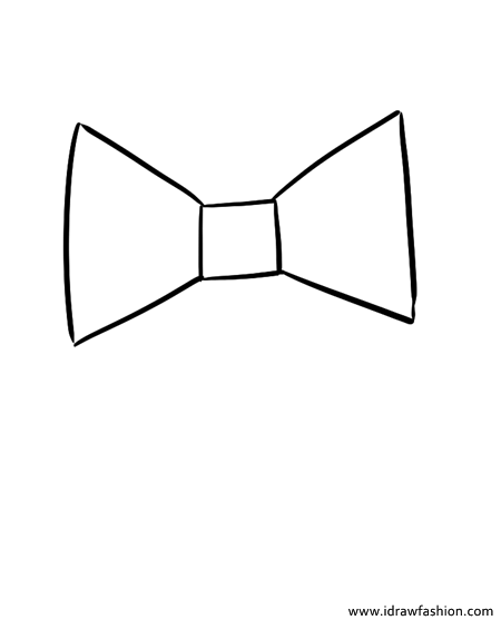 how to draw a bow how to draw a bow tie really easy drawing tutorial a draw to bow how