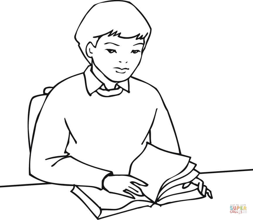 how to draw a boy reading a book a drawing depicting a teenaged boy reading a book circa book draw boy to how a reading a