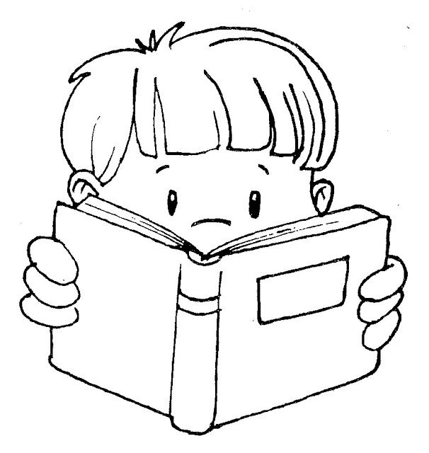 how to draw a boy reading a book boy reading book coloring sheet a boy to draw how book a reading