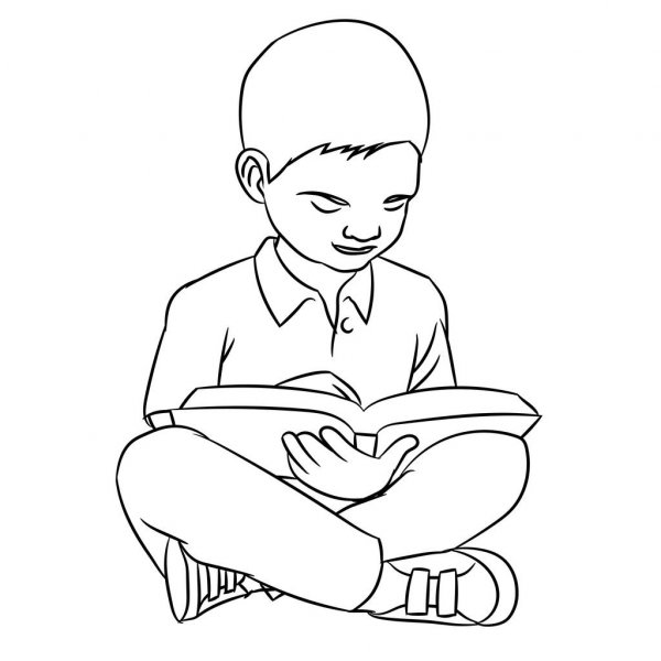 how to draw a boy reading a book boy reads the book in the bed stock vector illustration a boy reading book to a draw how