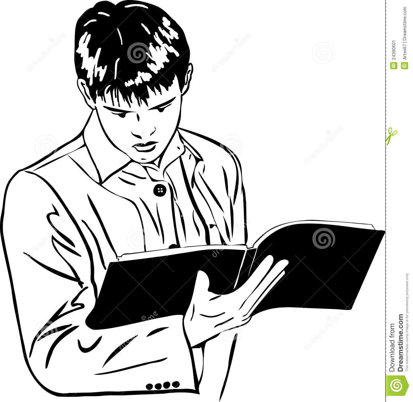 how to draw a boy reading a book sketch of boy attentively reading a large notebook stock boy reading how to book a draw a