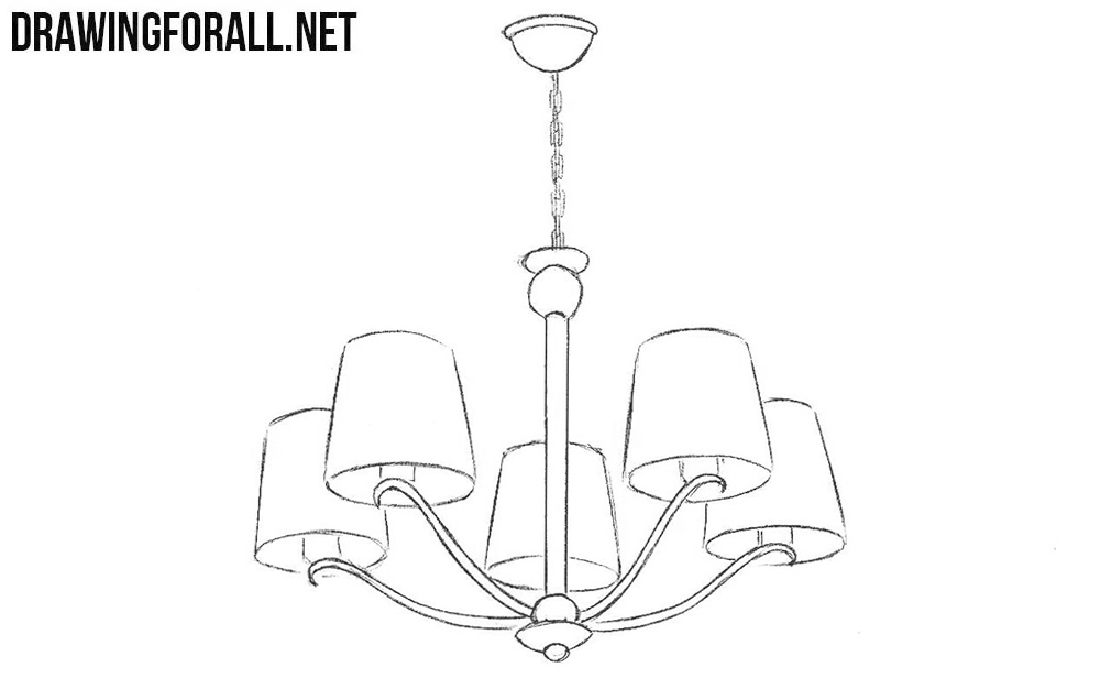 how to draw a chandelier chandeliers drawing step by step bollebluinfo to a draw chandelier how