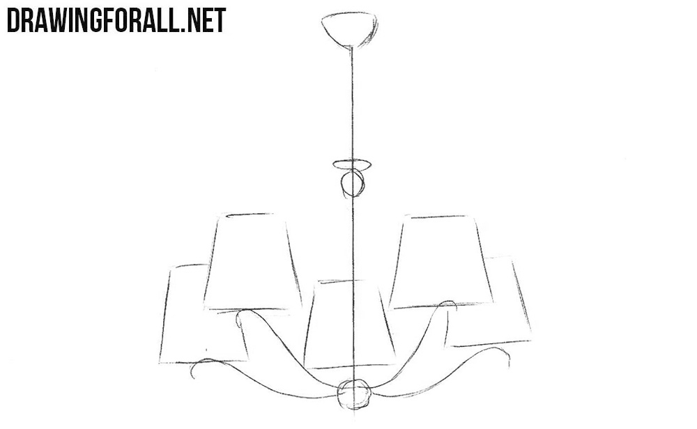 how to draw a chandelier learn how to draw a chandelier furniture step by step how chandelier draw a to