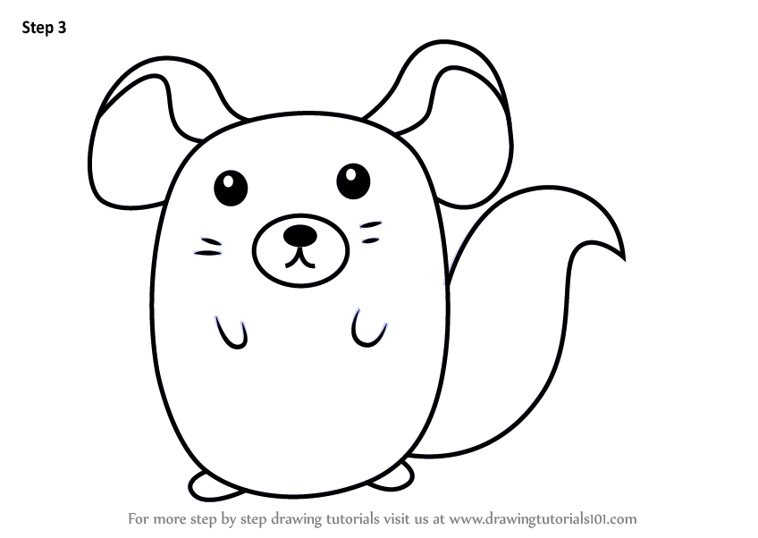how to draw a chinchilla step by step how to draw a cartoon chinchilla drawing tutorial chinchilla a step to draw how by step