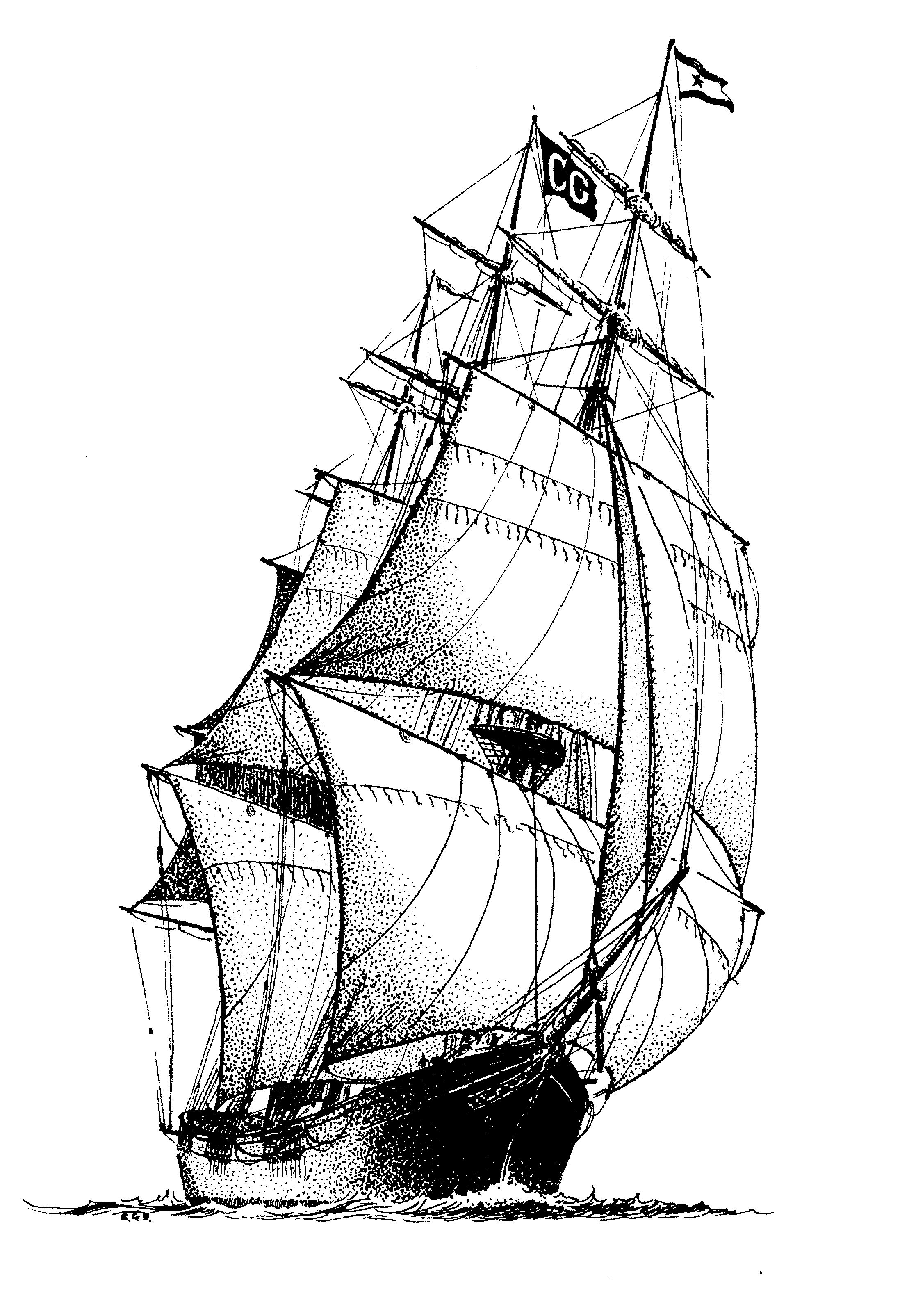 how to draw a clipper ship clipper ship images line drawing clipart best to how ship a clipper draw