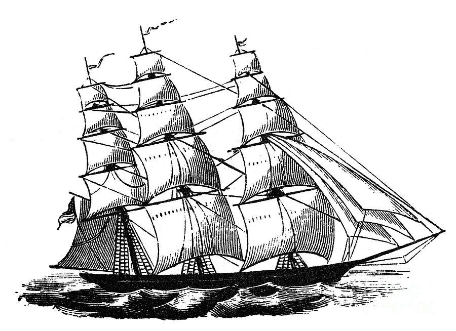how to draw a clipper ship pin by rodney greenwood on pencil drawings ship drawing ship draw clipper how to a