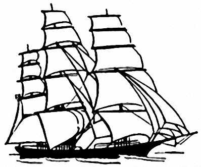 how to draw a clipper ship sailing ship coloring page free printable coloring pages how to a ship draw clipper
