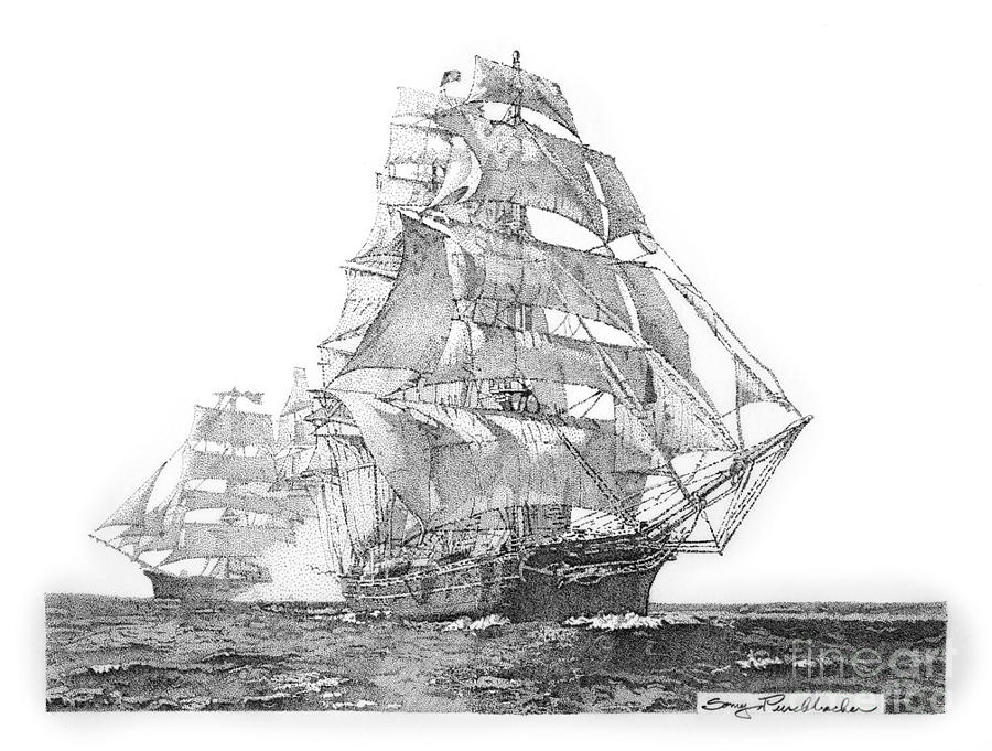 how to draw a clipper ship sketch of a large clipper ship with sails open stock clipper draw to a ship how
