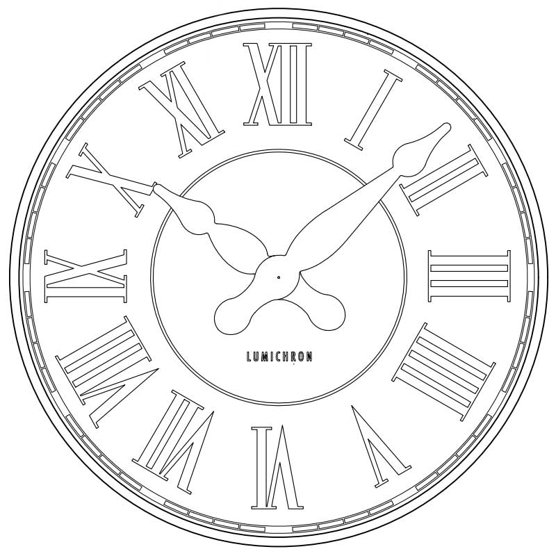 how to draw a clock drawings lumichron clock company how clock a draw to