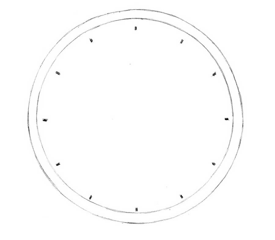 how to draw a clock how to draw a clock drawingforallnet a how to clock draw
