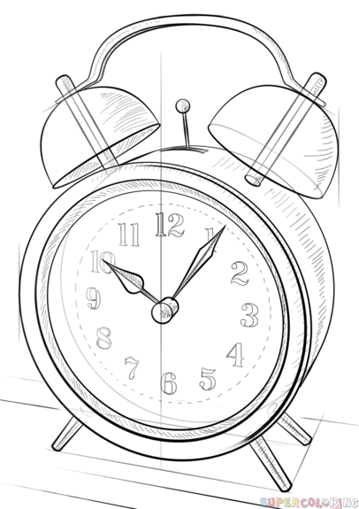 how to draw a clock how to draw alarm clock coloring pages coloring sky clock draw to a how