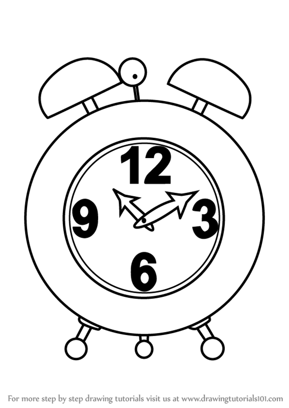 how to draw a clock simple clock drawing free download on clipartmag draw a how clock to