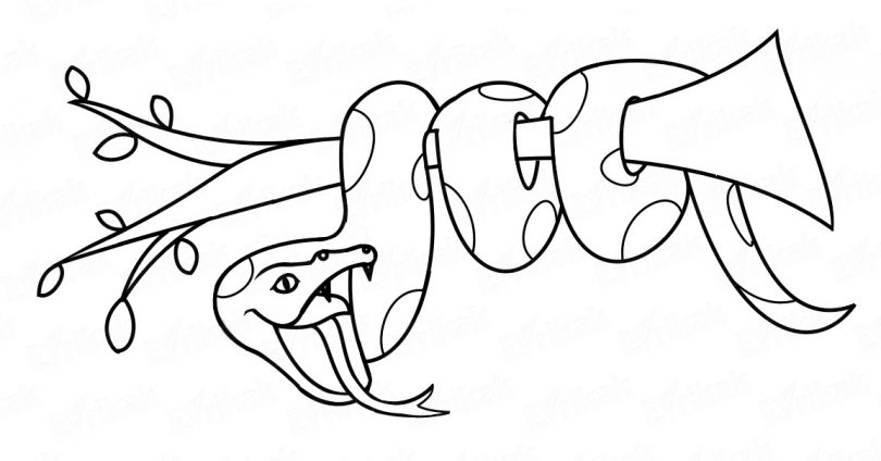 how to draw a cobra step by step snake drawing step by step at getdrawings free download by to draw cobra step how a step