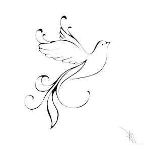 how to draw a dove easy simple drawing of bird flying easy how to a dove draw