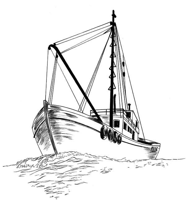 how to draw a fishing boat how to draw a fishing boat drawing tutorial easy to how a fishing boat draw