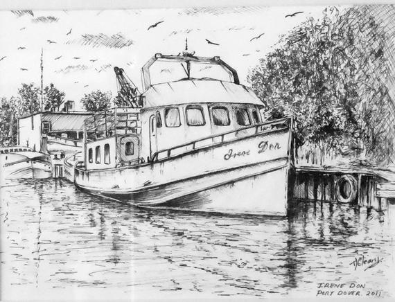 how to draw a fishing boat step by step fishing boat drawing a print from an original drawing by step by step draw to how boat fishing a