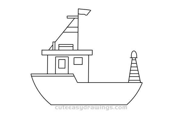 how to draw a fishing boat step by step how to draw a boat in a few easy steps easy drawing boat step draw by how to step fishing a